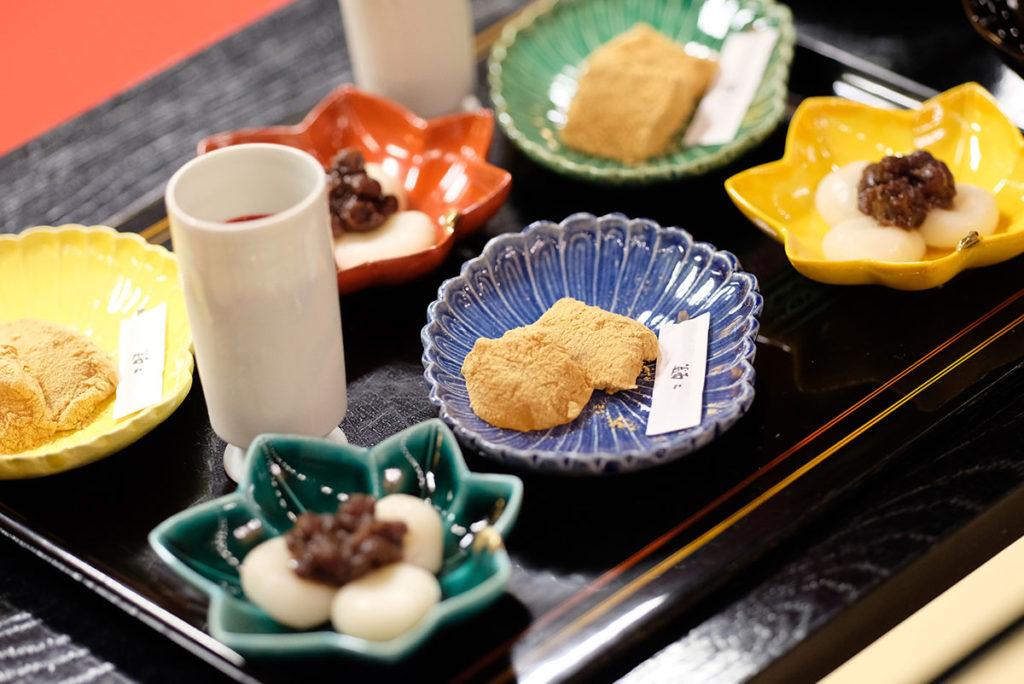 和のナイトウェディングを楽しめる二蝶の和菓子デザートビュッフェ